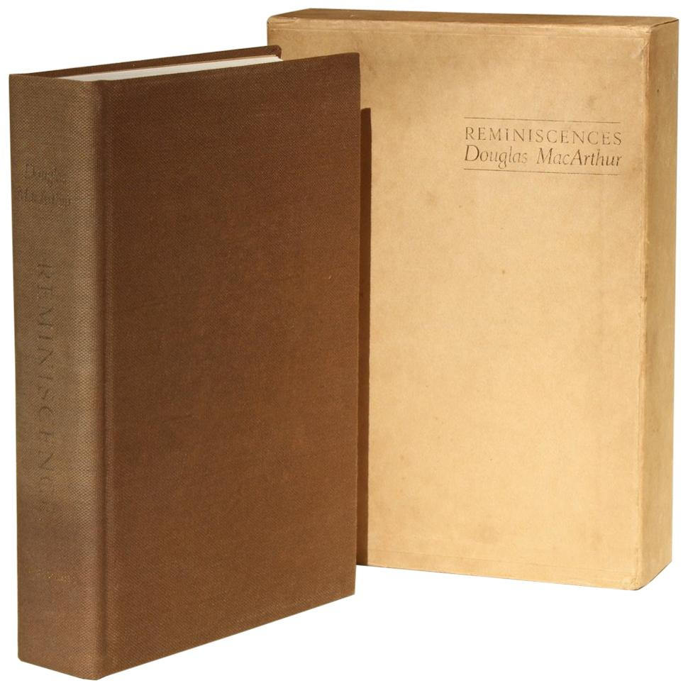 """Reminiscences"" by Douglas MacArthur, Signed by Jean MacArthur, Limited Edition"