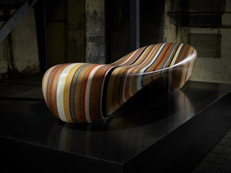 Remix, Chaise Longue by Brodie Neill in Assorted Woods and Reclaimed Materials For Sale 1
