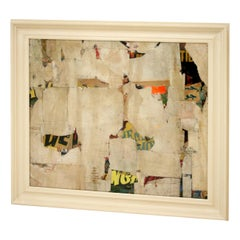 Remnants 13 Medium Abstract Collage by Artist Huw Griffith