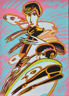 Pastorale - Original Screen Print by Remo Brindisi - 1980s