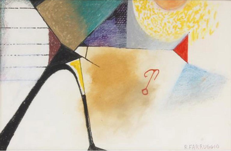 Untitled (Provincetown) - Abstract Painting by Remo Michael Farruggio