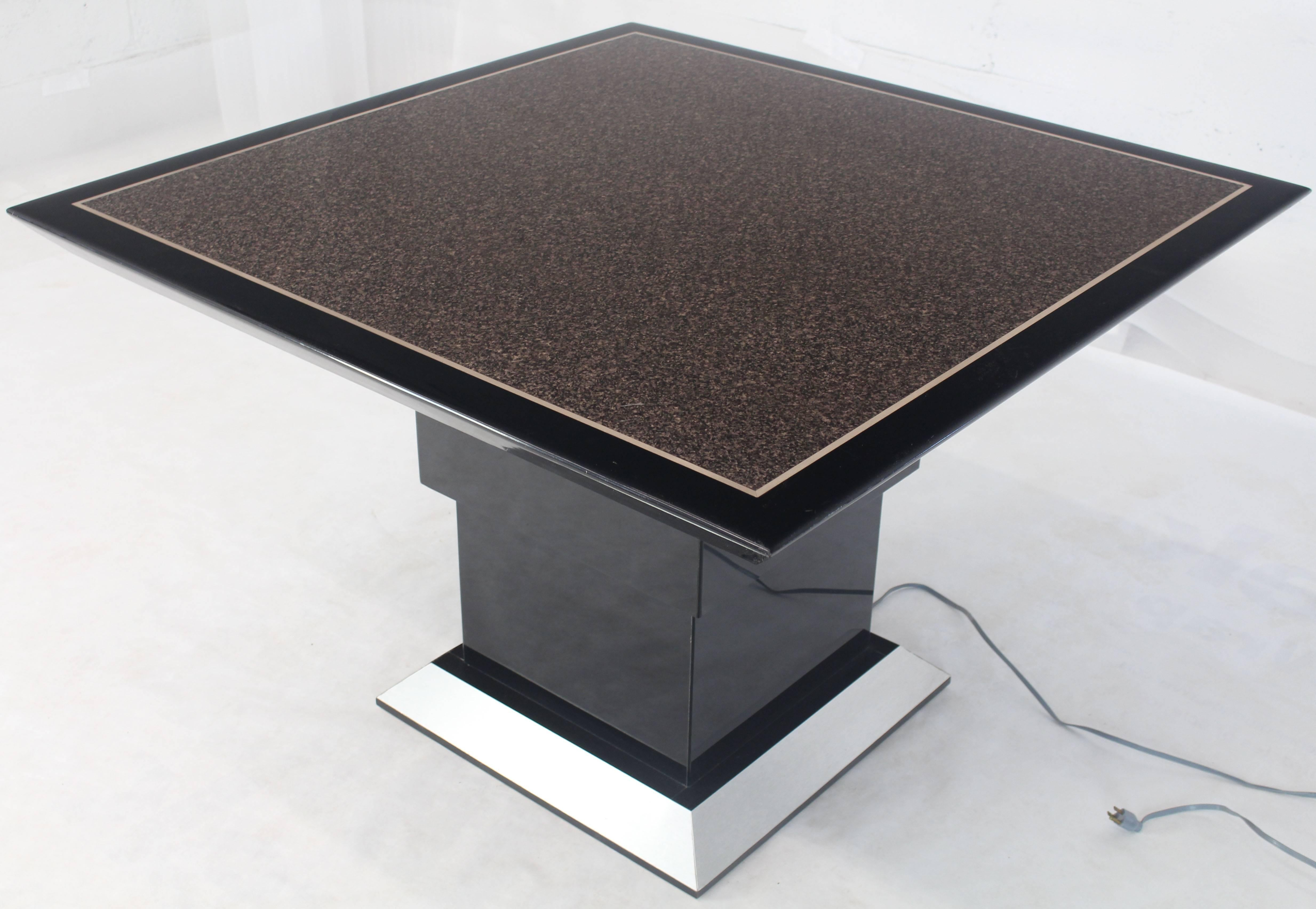 Lacquer Remote Controlled Hi Lo Adjustable Height Convertible Coffee Dining Game  Table For Sale