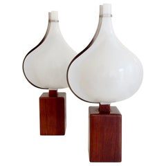 Rémy Letang Pair of Table Lamps, circa 1970, France