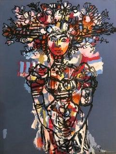 Woman with Birds Nest, Cubist & Modern (1971)