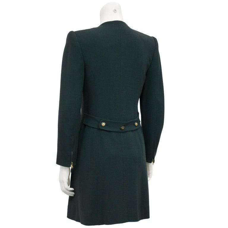 Black Rena Lange 1990's Forest Green Dress For Sale