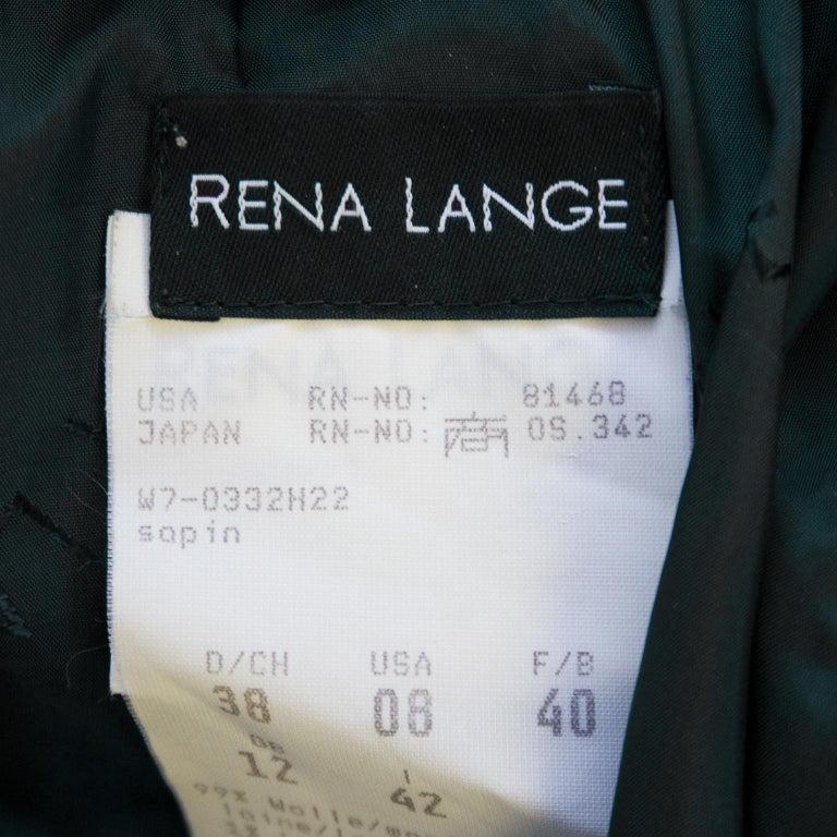 Rena Lange 1990's Forest Green Dress For Sale 1