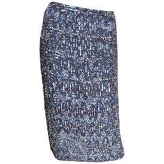 Rena Lange Elaborately Beaded Silk Skirt