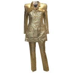 Rena Lange Gold Pant Suit
