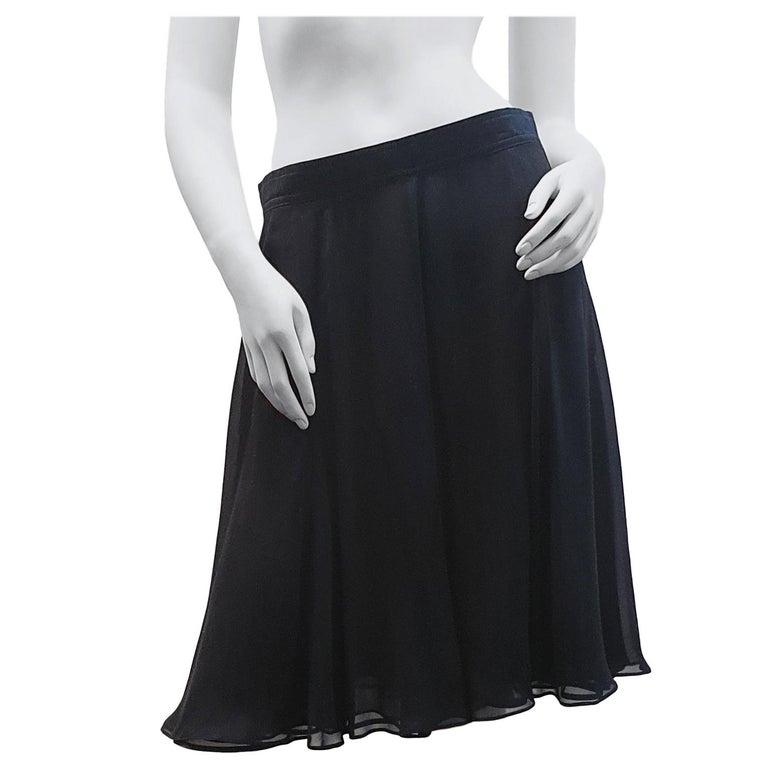 Rena Lange Tulle Black   night formal skirt  For Sale