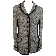 Rena Lange Vintage Gray Wool Blend Blazer Jacket