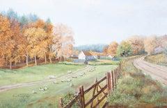 Rena M. Edgar - 1992 Oil, The Hillside Farm