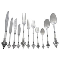 Renaissance by Cardeilhac Christofle Sterling Silver Flatware Set Service 137 Pc
