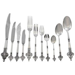 Renaissance by Cardeilhac Christofle Sterling Silver Flatware Set Service 71 Pcs