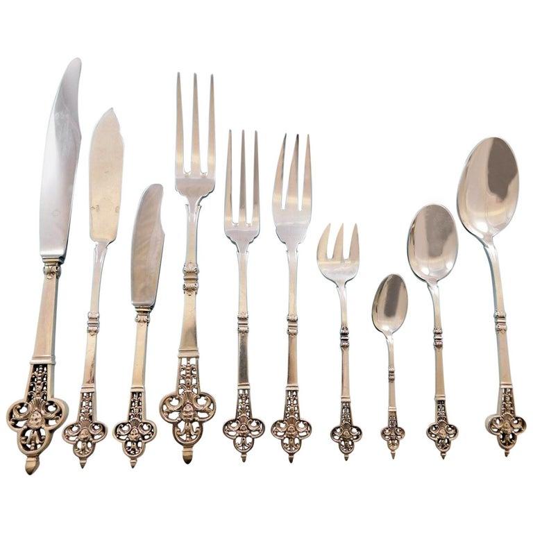 Renaissance By Christofle France Sterling Silver Flatware Set Service 161 Pieces For