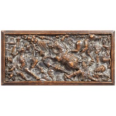Renaissance Carved Walnut Panel, French, circa 1560