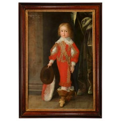 Renaissance Child Portrait of Bernhard of Saxony '1638-1678', Christian Richter