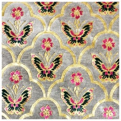 Renaissance Hand Knotted Wool and Silk Rug by Wendy Morrison