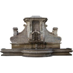 Renaissance Italian Style Fountain, Handcrafted in Pure Limestone, Monumental