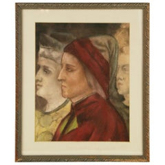 Renaissance Male Portrait Pastel Drawing
