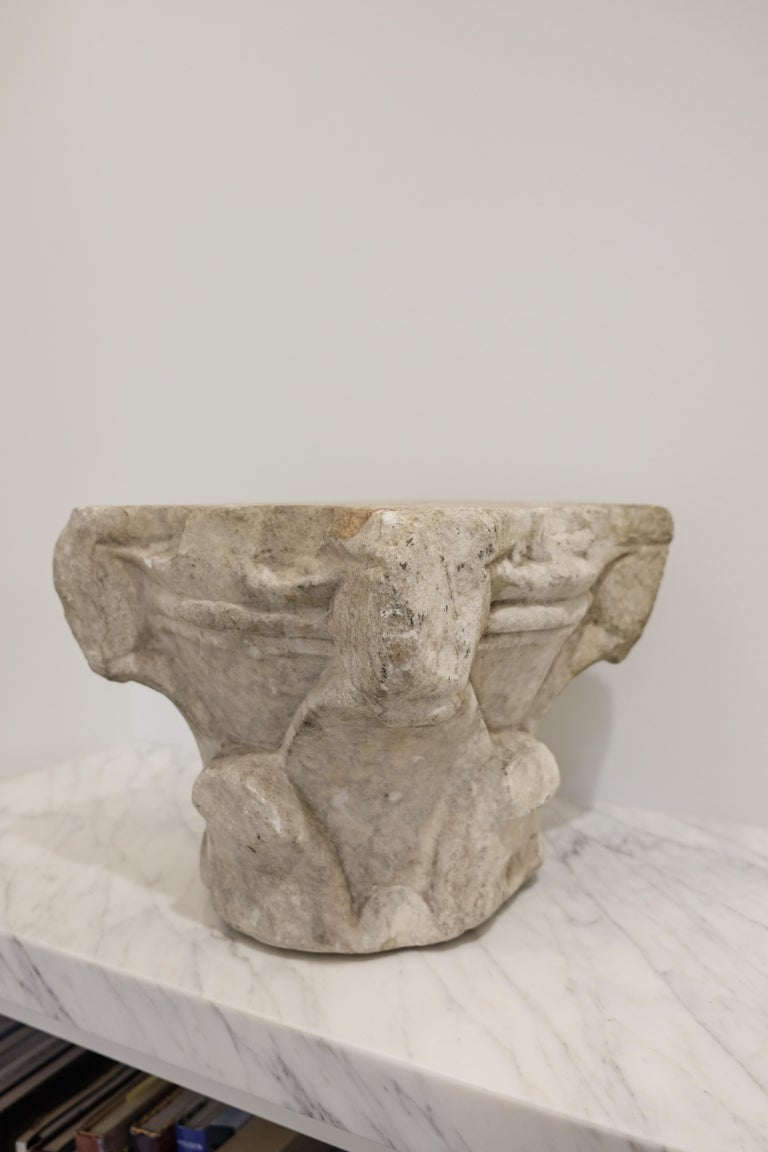 Renaissance Marble Capital, 16th Century, Italy In Good Condition For Sale In  Richmond, VA