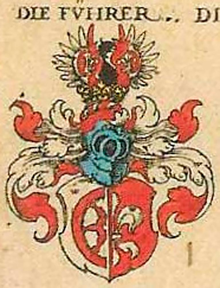 Mid-16th century painted deal armorial panel, dated 1546.  Inscribed and dated in German Gothic script 'Anno~Dominy 1546 - 16 Day of May' with twin armorial devices of Gules (red) painted half wheel and Gold half Fleur de Lys.   Provenance: The