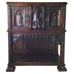 Renaissance Revival Carved Court Cupboard