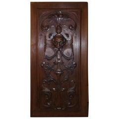 Renaissance Revival Carved Walnut Panel