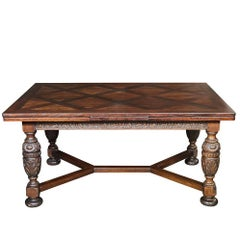 Renaissance Revival Draw-Leaf Dining Table