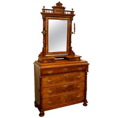 Renaissance Revival Dresser with Vanity Mirror