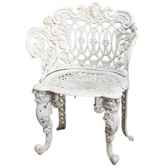 Renaissance Revival Style Figural Jenny Lind Cast Aluminum Garden Chair