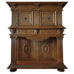 Renaissance Revival Style Palace Credenza / Sideboard, Museum Class