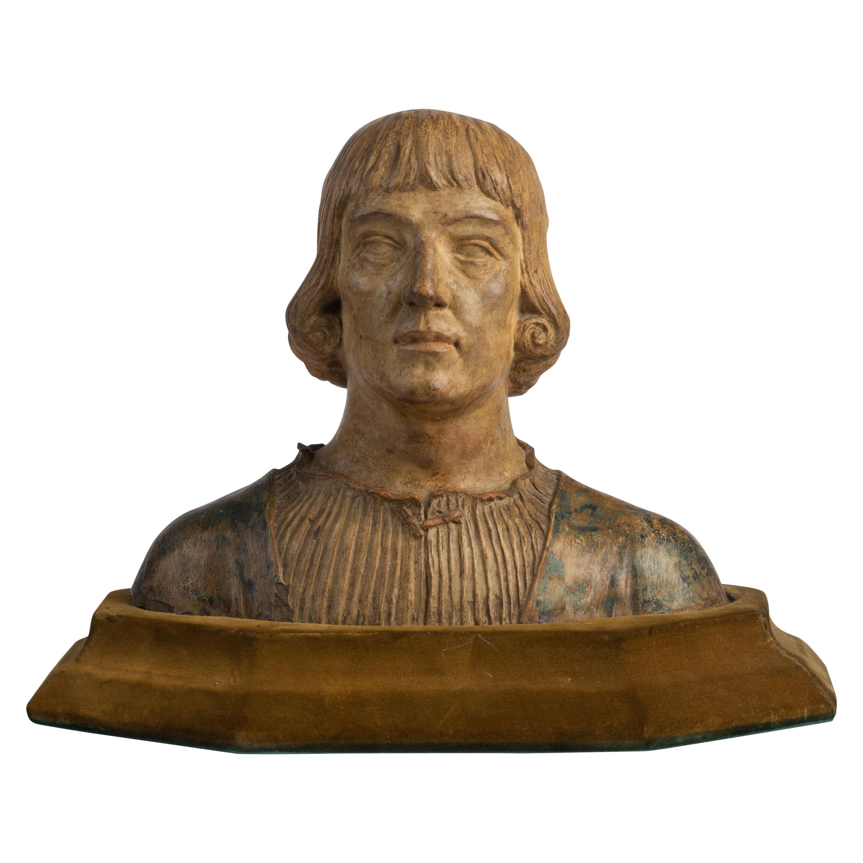 Renaissance Revival Terracotta Bust of a Man