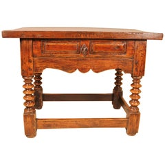 Renaissance Spanish Occassional Table circa 1600 in Walnut