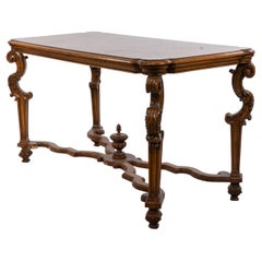 Renaissance Style Dining Table with Scalloped X-bar Stretcher