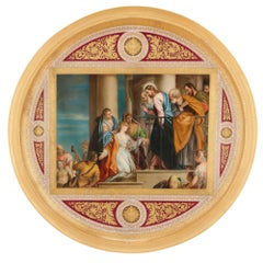 Renaissance Style Gilt Bronze and Porcelain Plaque by Royal Vienna
