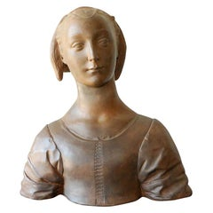 Renaissance Style Italian Bust of a Young Woman