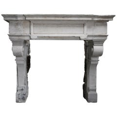 Renaissance Style Mantel from the 18th Century of French Limestone