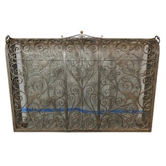 Renaissance Style Wrought Iron Fire Screen