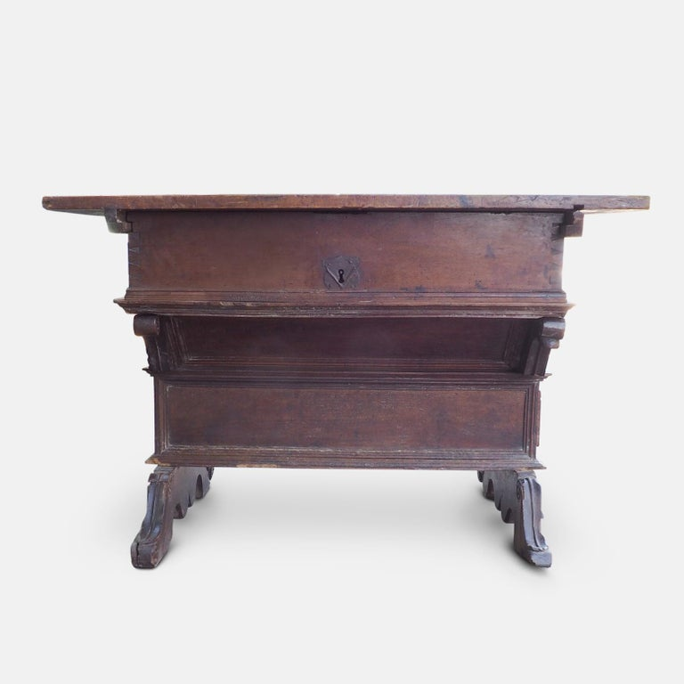 16th Century Renaissance Swiss Bankers or Merchants Table, circa 1580 For Sale
