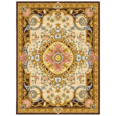 Renaissanse Gold, Multicolor Expensive Hand Knotted Silk Rug
