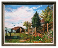 """Indian Summer in Coupeville"" - Impressionist Pacific Northwest Landscape"
