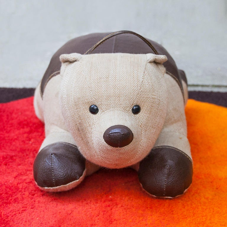 Mid-Century Modern Renate Müller Bear Therapeutic Toy, 1968 For Sale