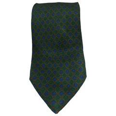 Renato Balestra green multicoloured silk tie