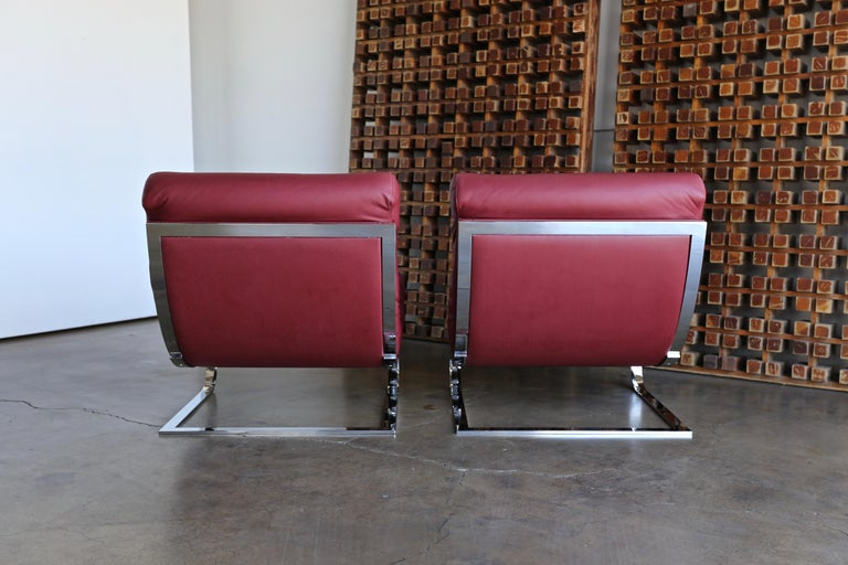 Renato Balestra Leather Lounge Chairs for Cinova Italy, circa 1970 For Sale 3