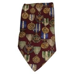 Renato Balestra red multicoloured silk tie