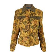 Renato Balestra Vintage Floral Tapestry Jacket