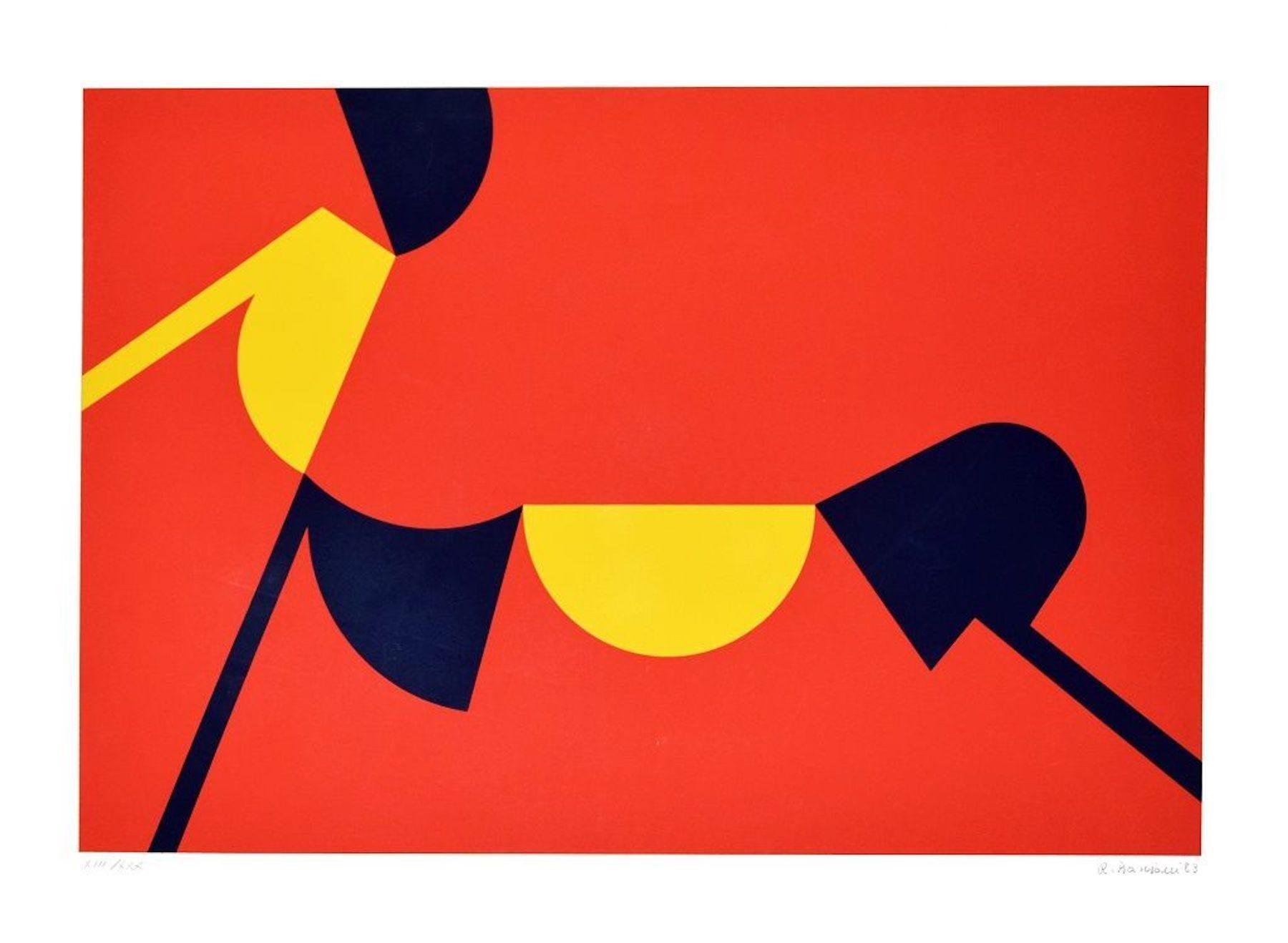 Abstract Sunset - Original Screen Print by Renato Barisani - 1983