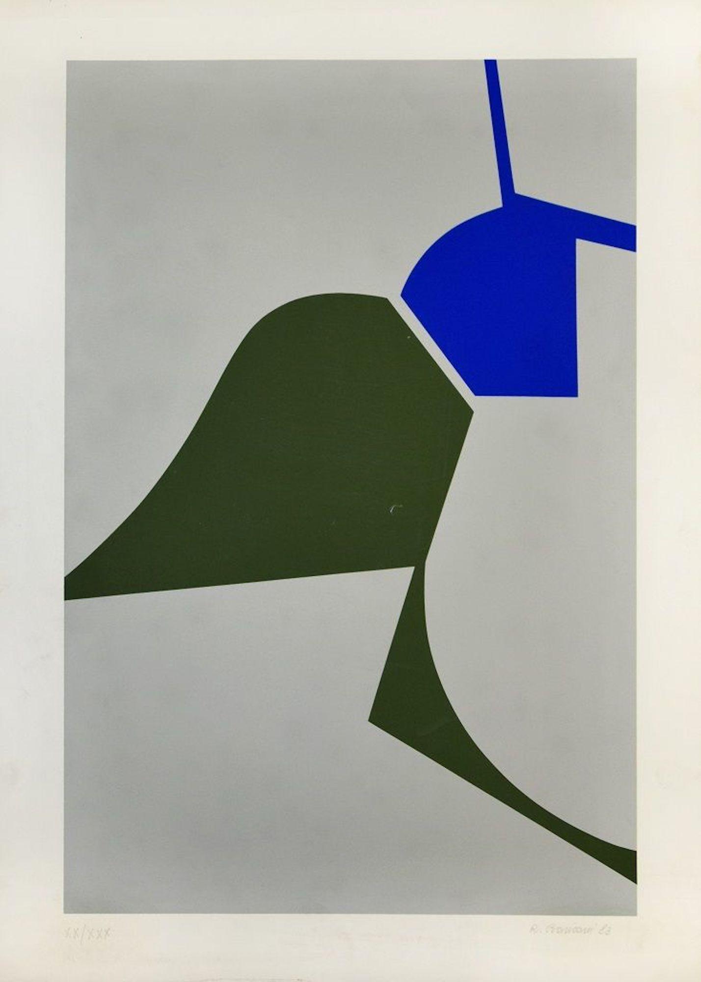 Mediterranean Abstract - Original Screen Print by Renato Barisani - 1983