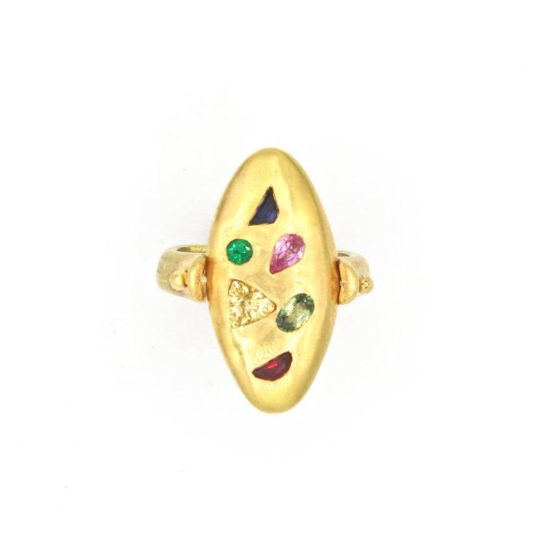 Renato Cipullo Multi Stone Gold Reversible Ring