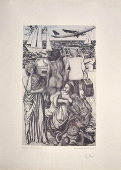 Allegory  - Original Offset Print Hand Signed by Renato Guttuso - 1970s